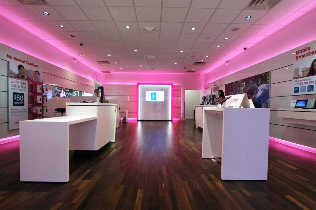 interior of T-Mobile stores after redesign