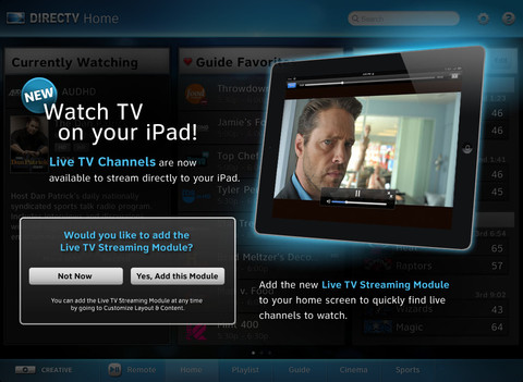 New DirecTV iPad app offers live streaming, promising features