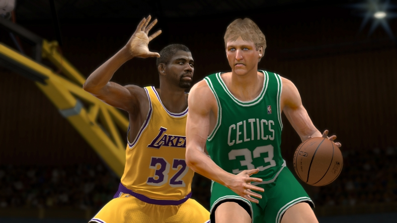 Larry Bird and Magic Johnson from NBA 2K12 videogame
