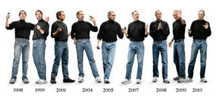 Steve Jobs talks about why he always wore black turtlenecks and blue jeans