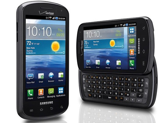 Samsung Stratosphere 4G LTE phone with Qwerty keyboard