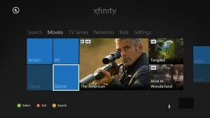 XFinity on Demand screen shot for Xbox