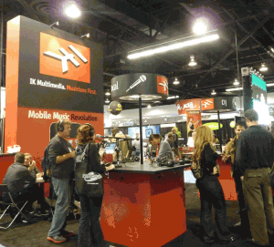 IK Multimedia booth at NAMM 2012
