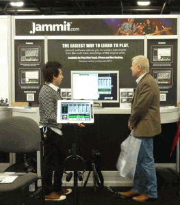 The Jammit booth at NAMM 2012