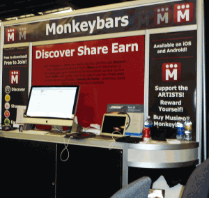 Monkeybars booth at NAMM