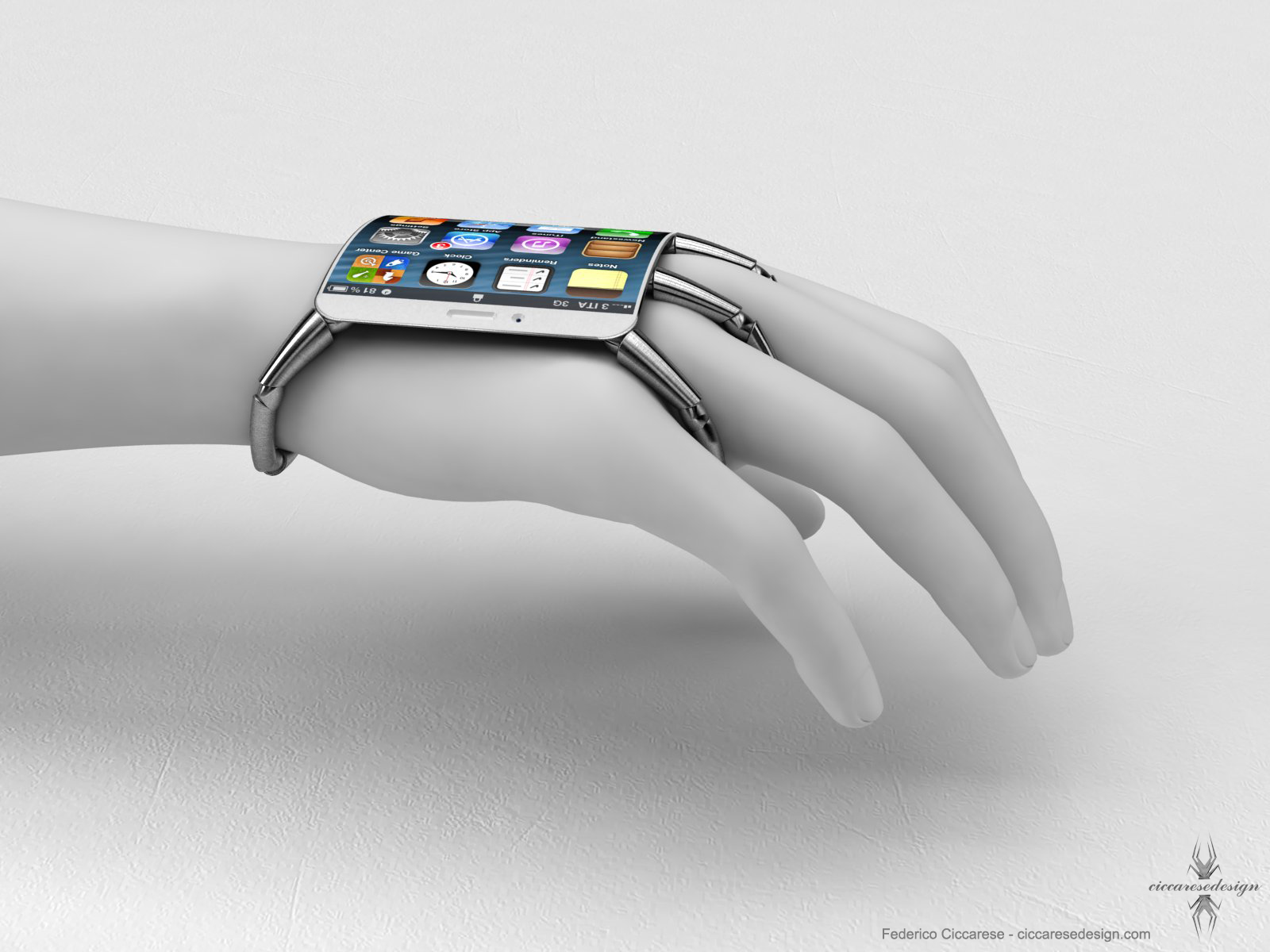 An iPhone 5 you wear on your hand?