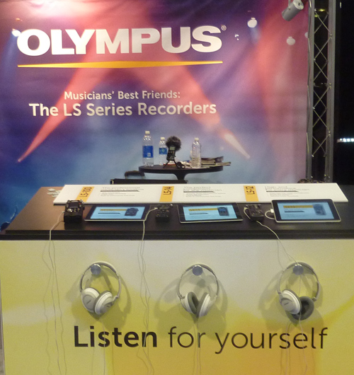 Olympus booth at NAMM 2013