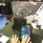 IK Multimedia's iRing technology in action at the 2014 NAMM Show.