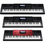 Casio debuted its new line of keyboards at NAMM 2014