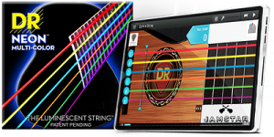 DR Neon Strings announces partnership with Jamstar teaching app at 2014 NAMM Show