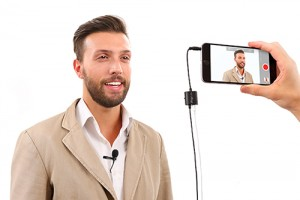 An affordable and compact professional-quality mobile lavalier microphone for iPhone, iPad, iPod touch and Android.