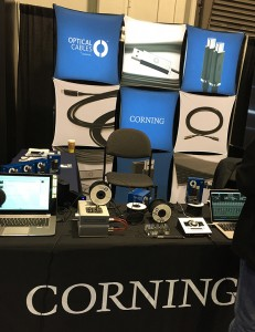 Corning booth at the 2016 NAMM Show.